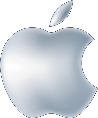 Logo of Apple Inc. to be used on a custom landing page/brand page about Apple products on the website of Shopping.com.