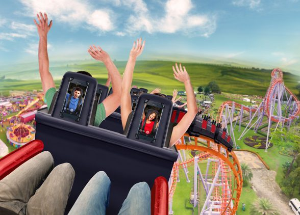 'The Future of Selfies' report predicts a 'selfiecoaster' rollercoaster will become a reality within the next five years featuring in-built smartphones like the Xperia XZ with its front facing camera and wide angle lens so you can capture more in your photo.